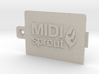 MIDI Sprout Battery Door 002a 3d printed