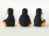 Linux Tux Penguin 3d printed As advertised: Tux in Euclidean space!