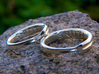 Infinite Love Ring 3d printed 16mm and 18.5 mm rings in polished silver.
