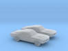 1/120 2X 1966 Ford Mustang 3d printed