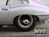 1/18 scale Burago E type Jaguar wheels 3d printed ...the problem