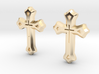 West Syriac Cross Earring Set (25mm) 3d printed