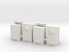 Electric Power Meter Box 1-87 HO Scale (4PK) 3d printed