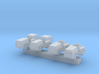 1:200 Scale MD-1 Aircraft Carrier Tow Tractors (4x 3d printed