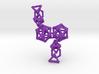 Platonic Progression Earrings - Bone 3d printed
