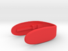 "Key Fob for F56 Car rev 3 3d printed ""chili red"""