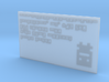 Turbo Buddy Business Card 3d printed