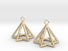 Pyramid triangle earrings type 13 3d printed