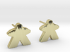 Meeple Earrings (studs) 3d printed