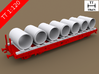 TT Scale Smmps Wagon Concrete Rings Cargo 3d printed TT Scale Smmps Wagon Concrete Rigns Cargo (Smmps wagon not included)