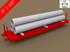 TT Scale Smmps Wagon Plastic Tubes Cargo 3d printed TT Scale Smmps Wagon Plastic Tubes Cargo (Smmps wagon not included)