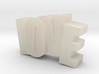LOVE in motion 3d printed