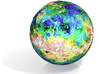 Topographic Venus 3d printed