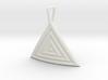 Triangular Ripple Pendant 3d printed
