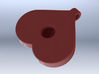 Breasts-shaped hollow keychain/pendant/aromapendan 3d printed 3D render pink plastic (from behind)