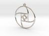 Square Spiral Pendant 3d printed