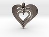 Interlocked Hearts Pendant 3d printed