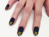Chevron Nails (Size 0) 3d printed With painted nail underneath