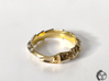 Carapace Ring 3d printed Carapace Ring - Polished Brass Front
