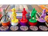 Argent Bases - Technomancy (7 pcs) 3d printed Picture courtesy of user kevinpdx on BGG. Game miniatures and board copyright Level99 games.
