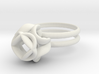 Single Rose Ring size 4 3d printed