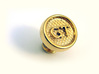 Custom Cufflink #01 3d printed Custom Cufflinks #01 in Gold Plated Brass