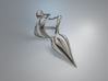 Twisted (Earring or Pendant) 3d printed Twisted (Silver)