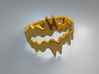 Chasm Ring 3d printed Chasm ring (Gold)