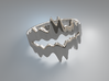 Chasm Ring 3d printed Chasm ring (Silver)