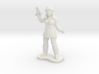 Female Security Officer 3d printed
