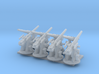 Royal Navy 1:350 3 Inch 20 cwt AA Gun Elevated 3d printed