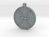Zodiac KeyChain Medallion-PISCES 3d printed