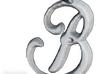'B' Initialized Pendant 3d printed Initial pendant