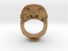 COLOSSEO Ring 3d printed COLOSSEO Ring in Brass