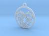 Circle Heart Pendant 3d printed
