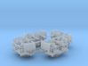 4 x Quad Bofors Shielded 1/128 3d printed