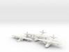 Grumman JRF-5 Goose (3 airplane set) 1/285 6mm 3d printed
