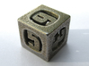 Thoroughly Modern Die6 3d printed In Stainless Steel