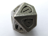 Thoroughly Modern Die10 3d printed In Stainless Steel