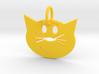 Smug Cat Keychain 3d printed