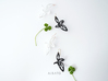 Dancing Butterfly Earring or Pendanttop 3d printed