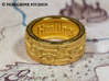 Ring - Song of Healing 3d printed Polished Gold Steel