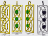 Sconce Pendant With Prongs for faceted stones 3d printed