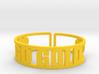Go Gold Cuff 3d printed