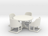 Cafe Table and chairs. Bistro style table and four 3d printed