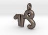 Capricorn Symbol Keychain 3d printed