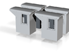 HO!!! SMALL PRR DOGHOUSE 4PK 3d printed HO SCALE! Small PRR Tender Doghouse