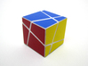 Polyaxis Cube 2x2x2 (DIY) 3d printed Assembled and stickered, solved(White Strong and Flexible Polished)