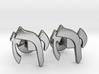 "Hebrew Monogram Cufflinks - ""Yud Zayin Reish"" 3d printed"