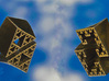 Super Fractal Pendant 3d printed Stainless Steel